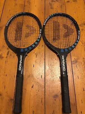 2 Vintage Donnay GLM Mini Wooden Tennis Rackets