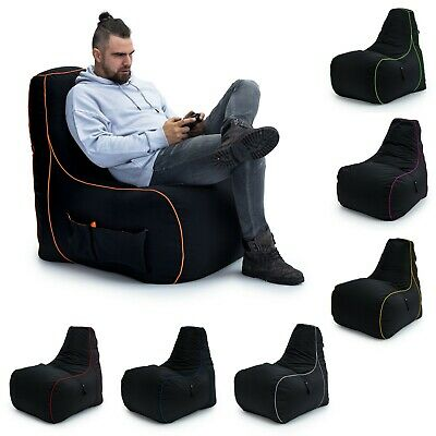 Loft 25® 'Game Over' Gaming High Back Chair Bean Bag Large Gamer Seat Xbox PS4
