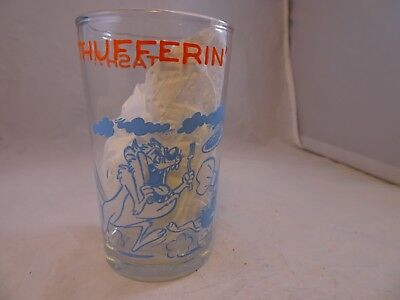 "Vintage 1974 ""Thufferin Thuccotash"" Warner Brothers Juice Jam Jelly Glass"