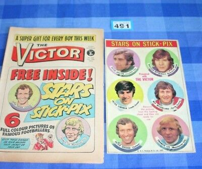 Victor Comic 625 - 10 Feb 1973 + Includes Original FREE Gift Football Stickers