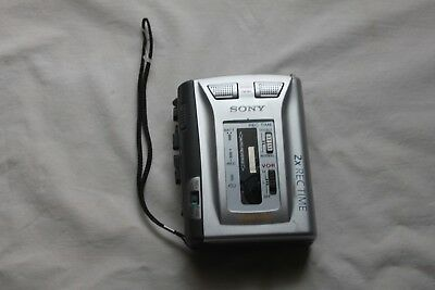 Sony Stereo Cassette-Corder Player Voice Recorder TCS60DV Works Nice Condition
