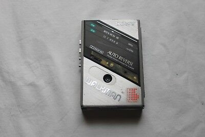 Vintage Sony Model WM-F100 Walkman Cassette Player All Metal Case Untested