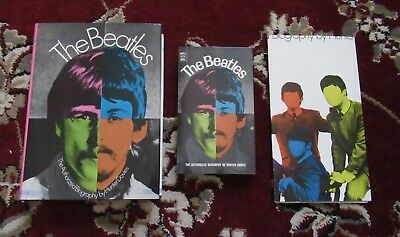Beatles 1968 ' THE BEATLES ' SET OF SOFT & HARD COVER BOOK & PROMO POSTER!