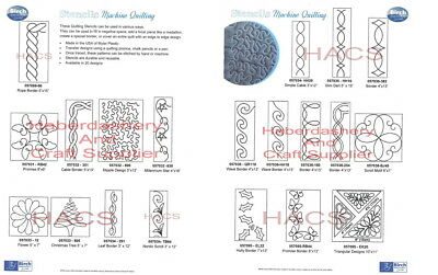 Stencil Plain Machine Plastic Quilting Designs Choose 1 From List