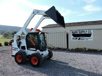 2012 Bobcat S650 Rubber Tire Skid Steer Loader Kubota Diesel Cab Heat Air 74 HP!