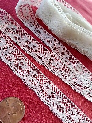 """5/8"""" French Antique Lace Valencienne Val very fine Trim  4 yards +15""""  insertion"""
