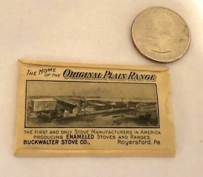 Antique BUCKWALTER Stove Co. Celluloid Advertising Pouch Royersford,  PA