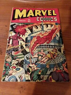 Marvel Mystery Comics #52 Gorgeous Schomburg Cover! Golden Age Marvel!