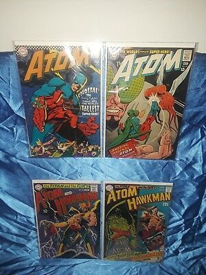 Lot Of 4 Silver Age Dc Comics The Atom 32, 33, 40, 41