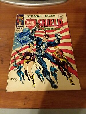 Strange Tales #167 Signed By Jim Steranko! Classic Cover! Nick Fury!