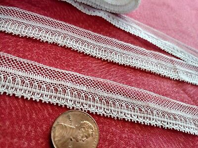 Nice! French Antique Lace Valencienne Val very fine Trim  5 yards  edging dolls