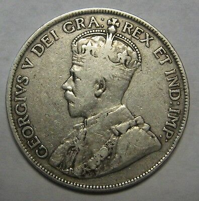 1919 Canada Silver Half Dollar Nice Early Issue Grading FINE             c001