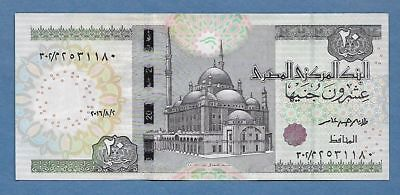 Central Bank Of Egypt 20 Pounds, Uncirculated.  Lot # ENS003
