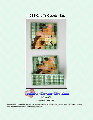 Giraffe Coaster Set-Plastic Canvas Pattern or Kit