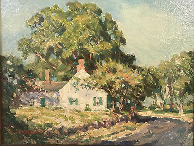 Fine Old Oil Painting by American Impressionist Walter Sargent, Harvard, Chicago