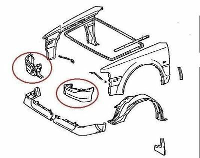 Front Valance Panel from Wing Under Bumper Toyota MR2 MK1 B 1986-1989