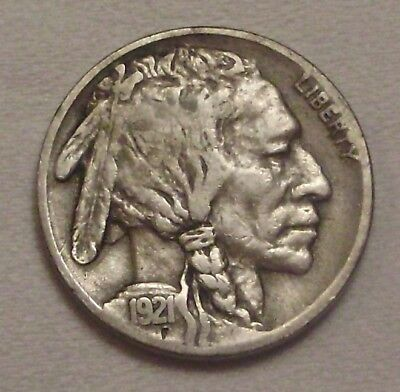 1921-S Buffalo Nickel__2/3 Horn F / VF