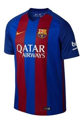 48h-SALE NEW €85 Nike 2017 FC Barcelona Fußball Soccer Football Trikot shirt M