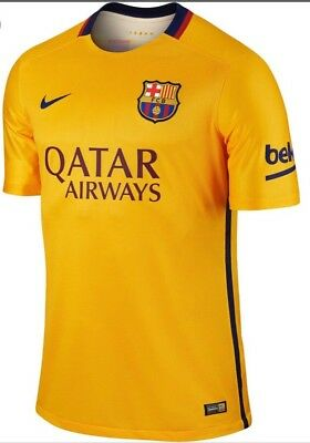 48h-SALE NEW €85 Nike FC Barcelona Fußball Soccer Football Trikot shirt M