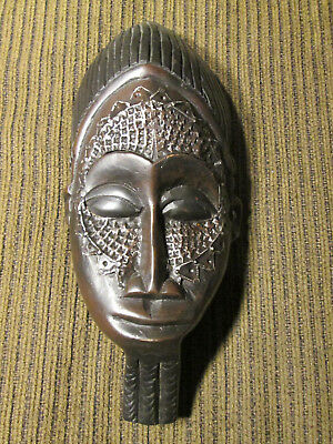 Wooden wall mask from Ghana / Africa (#85)