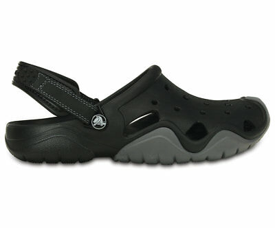 NEW Genuine Crocs Mens Swiftwater Clog M Black/Charcoal - Australia Store