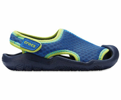 NEW Genuine Crocs Kids - Boys Swiftwater Sandal K Blue Jean/Navy - Australia