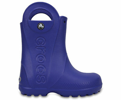 NEW Genuine Crocs Boys Kids Handle It Rain Boot Cerulean Blue