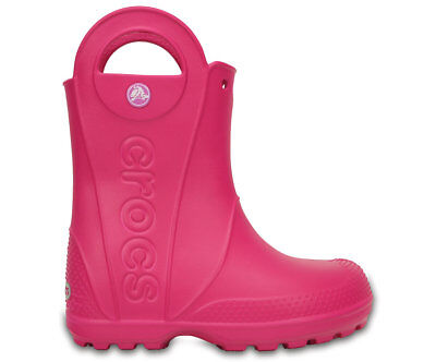 NEW Genuine Crocs Girls Kids Handle It Rain Boot Candy Pink