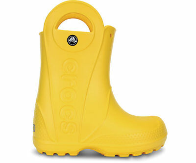 NEW Genuine Crocs Girls Kids Handle It Rain Boot Yellow