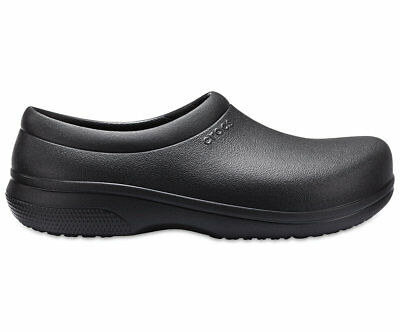 NEW Genuine Crocs Mens On The Clock Work Slip On Black - Australia Store