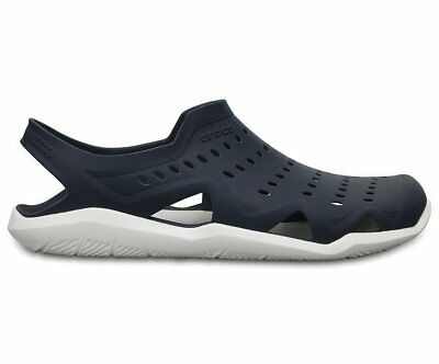 NEW Genuine Crocs Mens Swiftwater Wave Sandal Navy/White