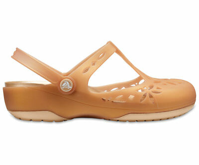 NEW Genuine Crocs Women Isabella Clog Dark Gold