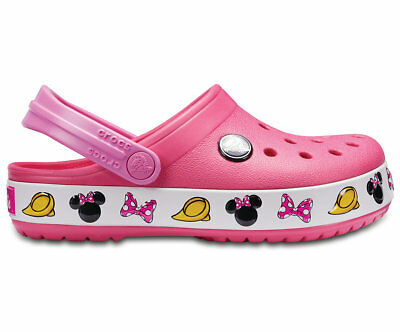 NEW Genuine Crocs Girls FunLab Crocband Minnie Clog Paradise Pink