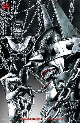 Batman Who Laughs 1 Mico Suayan Unknown B B&W Sketch Variant Nm