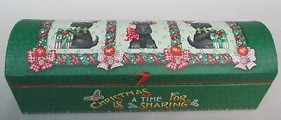 Mary Engelbreit Christmas Holiday Scotty Scottie Dog Box W 2 Cranberry Soaps-
