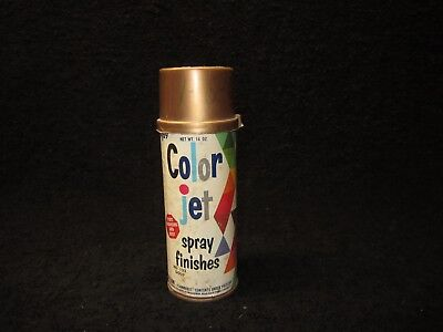 Vintage  1968  - Color Jet - Spray Paint Can - Paper Label - 122 Gold - 1/4 Full