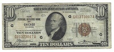 U.S. $10 National Currency Federal Reserve Bank Note, SEr 1929