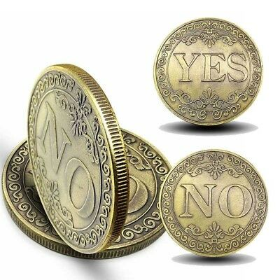 Bronze Embossed Yes OR No Print Challenge Chinese Zodiac Souvenir Coin Storage