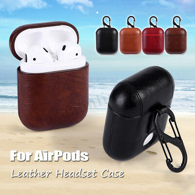 Per Apple Airpods Pelle Custodia Protective Case Cover Porta Cuffie E