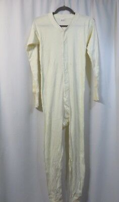 Vtg  40s Long Johns Union Suit Open Back NOS Farm Work Chore Cotton Lord Anson