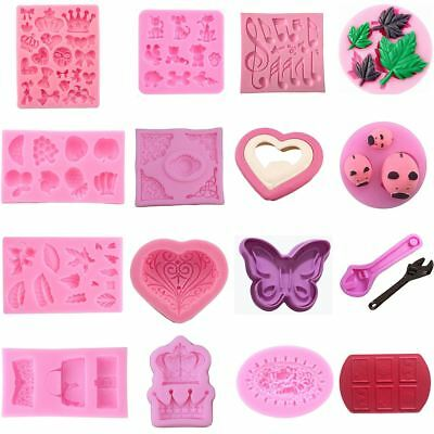 Silicone Handmade Soap Moulds Ice Cube Chocolate Cake Pudding Mold Baking Tools
