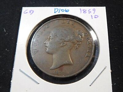 D106 Great Britain 1859 Penny