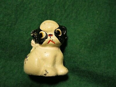 Old vintage Hubley Cast Iron Fido Dog Paperweight w Bee Pup