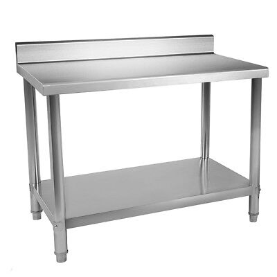 "24""x36"" Stainless Steel Work Table Food Prep Kitchen Restaurant with Backsplash"