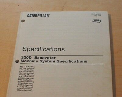 CATERPILLAR 320D EXCAVATOR Hydraulic Systems Specifications Manual service  shop