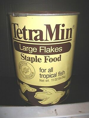 Exceedingly RARE Teter Min Fish Food Store Display Tin Vintage HUGE 11Lb Can