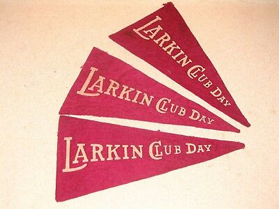 Larkin Soap Co Buffalo NY 3 EARLY Larkin Club Day Felt Pennant Lot Awesome
