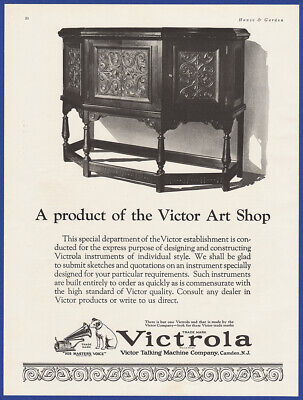 Vintage 1924 VICTROLA Victor Talking Machine His Master's Voice Print Ad 20's