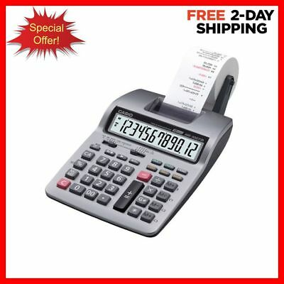 Adding Machine Calculator Compact Desktop Printing Large 12 Digit LCD Display