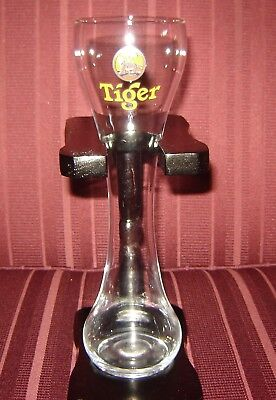 Tiger Beer 1/2 Half Yard Ale Glass W/stand & Key Chain/ring